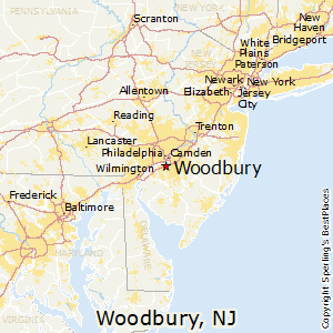 Woodbury,New Jersey Map