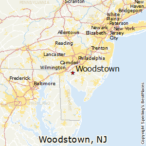 Woodstown,New Jersey Map