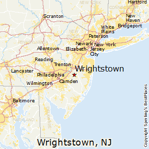 Wrightstown,New Jersey Map