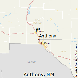 Anthony,New Mexico Map