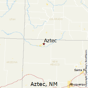 Aztec,New Mexico Map