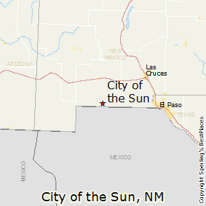 City_of_the_Sun,New Mexico Map