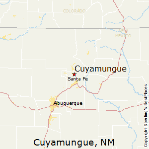 Cuyamungue,New Mexico Map