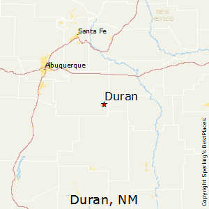 Duran,New Mexico Map