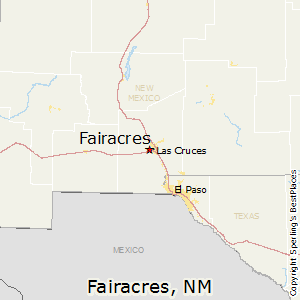 Fairacres,New Mexico Map