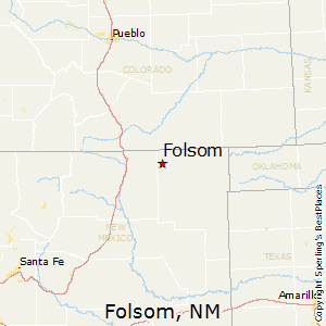 Folsom,New Mexico Map