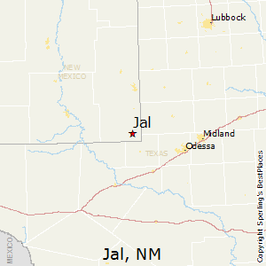 Jal,New Mexico Map