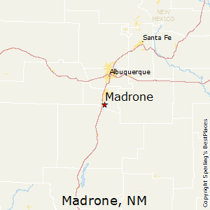 Madrone,New Mexico Map