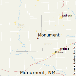 Monument,New Mexico Map