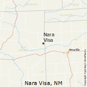 Nara_Visa,New Mexico Map