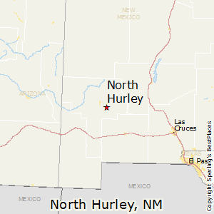 North_Hurley,New Mexico Map