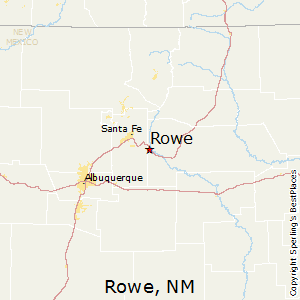 Rowe,New Mexico Map