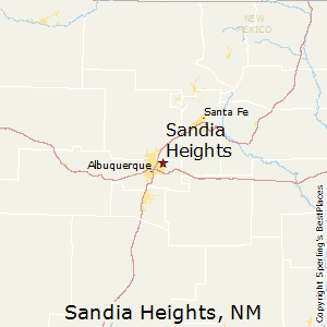 Sandia_Heights,New Mexico Map