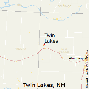 Twin_Lakes,New Mexico Map