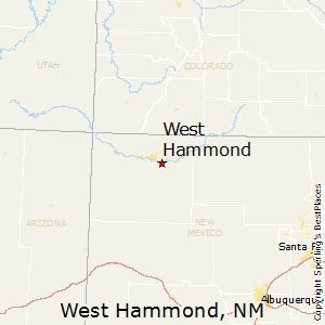 West_Hammond,New Mexico Map