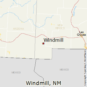 Windmill,New Mexico Map
