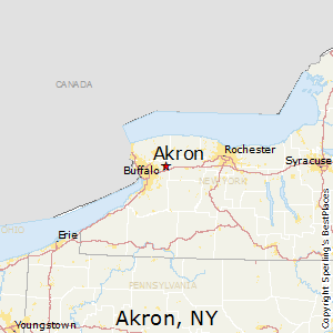 Akron,New York Map