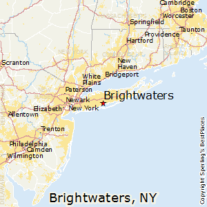 Brightwaters,New York Map