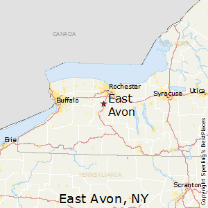 East_Avon,New York Map