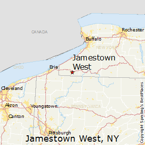 Jamestown_West,New York Map