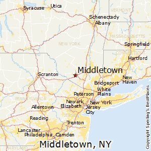 Middletown,New York Map