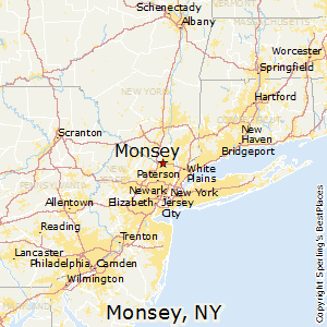 Monsey,New York Map