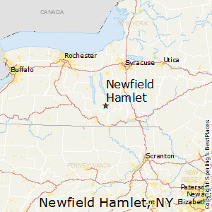 Newfield_Hamlet,New York Map