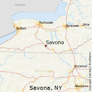 Savona,New York Map