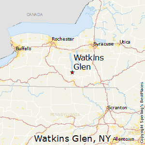 Watkins_Glen,New York Map