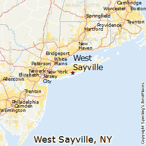 West_Sayville,New York Map
