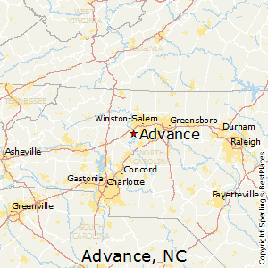 Advance,North Carolina Map