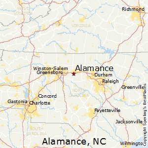 Alamance,North Carolina Map