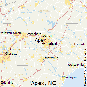 Apex Nc Map Best Places to Live in Apex, North Carolina Apex Nc Map