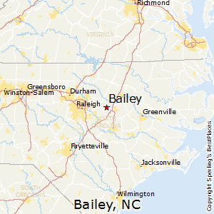 Bailey,North Carolina Map