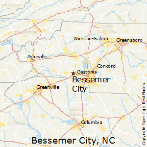 Bessemer_City,North Carolina Map
