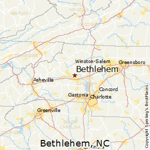 Bethlehem,North Carolina Map