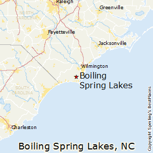 Boiling_Spring_Lakes,North Carolina Map