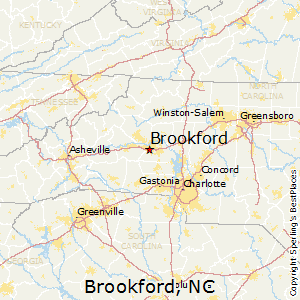 Brookford,North Carolina Map