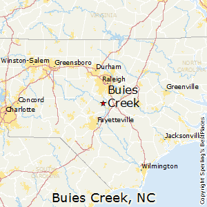 Buies_Creek,North Carolina Map