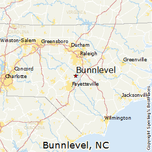 Bunnlevel,North Carolina Map