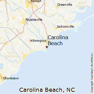 Carolina_Beach,North Carolina Map
