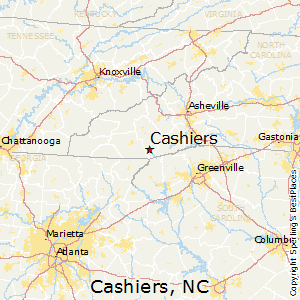Cashiers,North Carolina Map