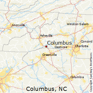 Columbus,North Carolina Map