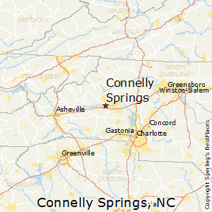 Connelly_Springs,North Carolina Map