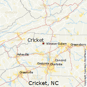 Cricket,North Carolina Map