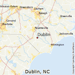 Dublin,North Carolina Map