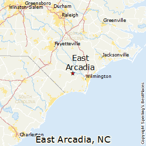 East_Arcadia,North Carolina Map