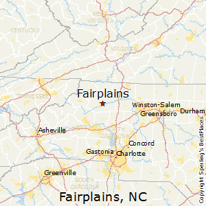 Fairplains,North Carolina Map