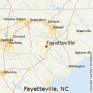 Fayetteville,North Carolina Map