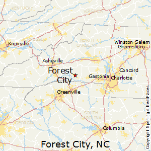Forest_City,North Carolina Map